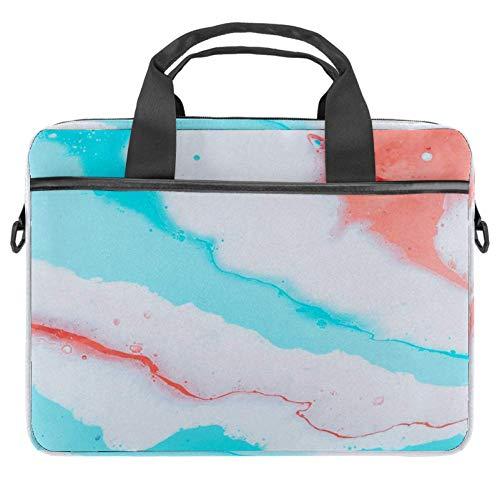 TIZORAX Laptop-Tasche, farbiger Gouache-Hintergrund, Notebooktasche mit Griff, 38,1 - 39,1 cm, Schultertasche, Aktentasche