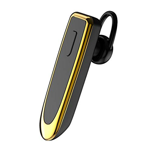 Wsaman Auriculares Bluetooth Deportivos (Alcance de 50ft),Bluetooth 5.0 Auriculares(48 Horas de Duración), Auriculares In-Ear para Durante Negocios/Oficina/Conducción,Oro