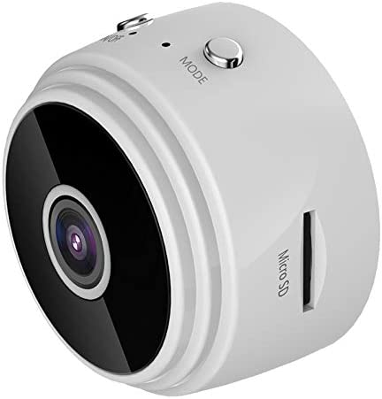 Security Indoor Camera, Motion Detection for Baby Monitor 1080P Smart Surveillance WiFi Pet Camera for Home Security with Night Vision, Built-in Battery (White)