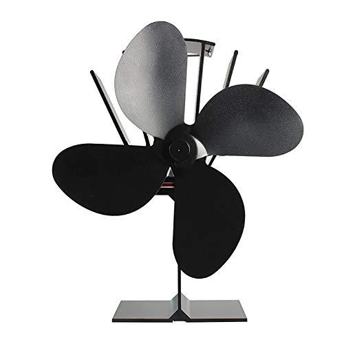 HkFcle 4-aspa del Ventilador Estufa de Madera termodinámico/Registro Ventilador del Quemador Estufa de leña con el Medio Ambiente/Log/Ciclo Chimenea térmica