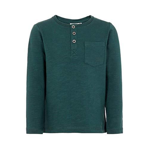 NAME IT T-shirt à manches longues boutonné top bébé vêtements bébé, olive