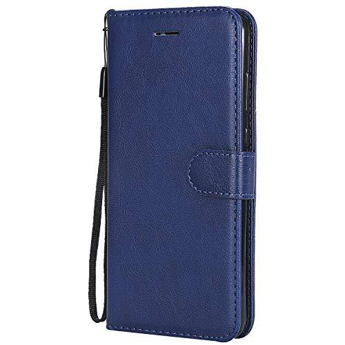 Funda tipo libro para Huawei P20 Pro, FBNK con cierre magnético de piel con tapa y tarjetero, color rojo, soporte para tarjetas de identificación, bolsillo para efectivo, TPU