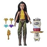 Disney Muñeca con set Fortaleza y estilo de Raya y el último dragón, rizador, juguete para niños de 5 años