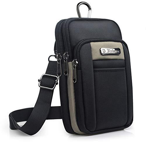 KSIBNW Riñonera para Hombre Oxford Belt Purse Bag con 3 Bol