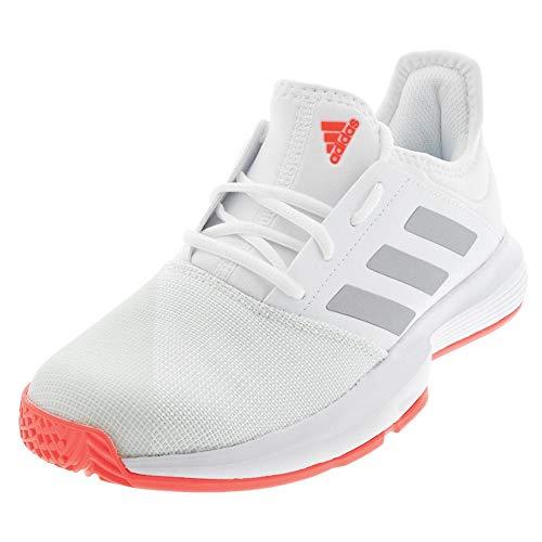 Zapatillas Tenis Adidas Gamecourt para hombre, Blanco (Blanco/plateado/rosa), 39 EU