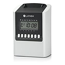 Lathem 700E Calculating Electronic Time Clock, Requires Lathem E17 Time Cards (Sold Separately) (700E)