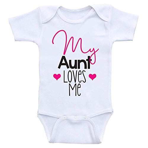 qidushop My Great Aunt Loves Me Christmas Baby Bodysuit for Newborn