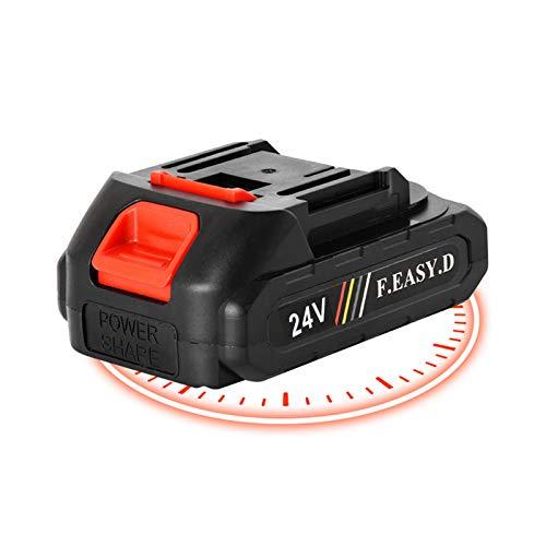 Mini batería motosierra inalámbrica portátil, batería de motosierra eléctrica inalámbrica de 5 pulgadas 24V / 36V, velocidad de corte ajustable, para cortar ramas de árboles de madera (Batería 24VF)