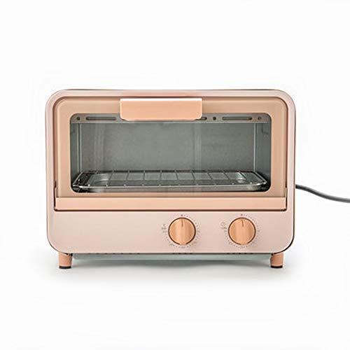 Digitale Ofen, Auftauprogramme Kindersicherung Energiesparmodus Glasdrehteller Edelstahl Automatische Anzeige Garzustands, 9 Liter, 800 Watt, Pink [Energieklasse E]