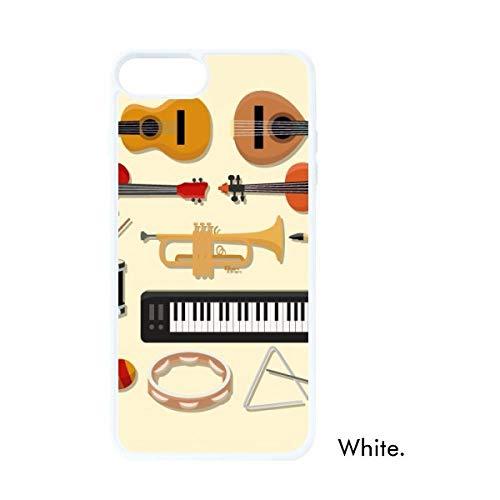 DIYthinker Elektrische Piano Trombone Gitaar Muziek Wit Phonecase Apple Cover Case Gift