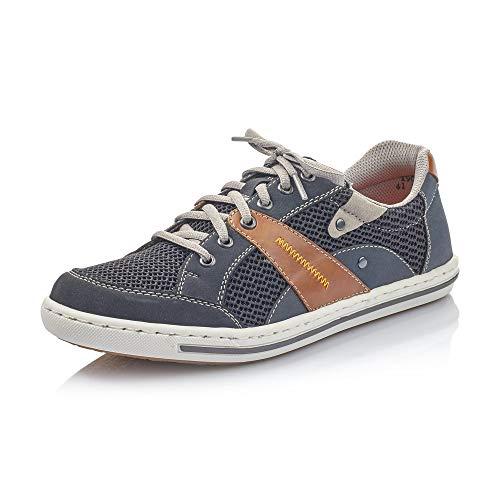 Rieker Hombre Zapatos de Cordones 19030, de Caballero Calzado Deportivo,Calzado,Calzado de Exterior,Deportivo,Ocio,Pazifik,43 EU / 9 UK