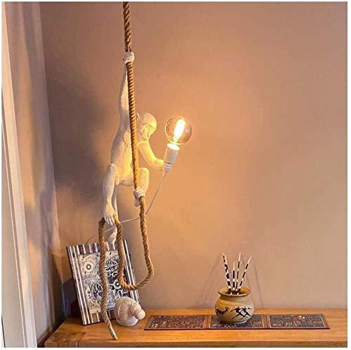 Lampe de table design singe lumière personnalité en résine dessin animé café/chambre d'enfants/chambre lampe de singe créative-UNE