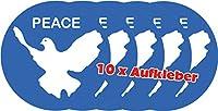10 x Racker-n-Roll PEACE Friedenstaube Aufkleber