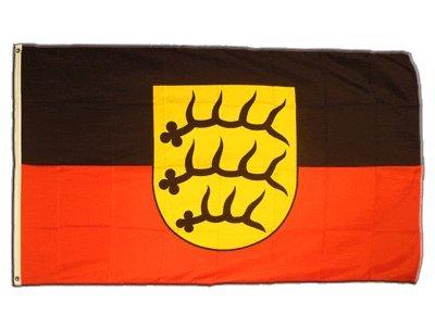 Flaggenfritze Fahne/Flagge Deutschland Württemberg-Hohenzollern 1945-1952 + gratis Sticker