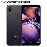 UMIDIGI A3, 2019 Smartphone Offerta del Giorno 5.5 pollici, Triplo Slot 2 Nano SIMs+1 MicroSD, Quad-Core 256GB Espandibili Offerte Cellulari, 16GB ROM Telefonia Mobile, 3300mAh, 12MP+5MP- Grigio Scuro