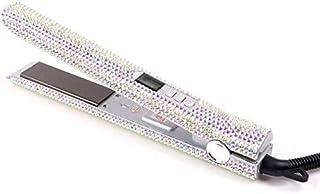 Secador de pelo y rizador de un paso Plancha de pelo profesional plancha de pelo de cristal de placa del titanio Diamante plancha de pelo de cristal Estilismo calientes Herramientas Con Cristales de B