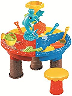 wulide 砂遊び おもちゃ ビーチ 砂遊びセット 室内砂場 水遊び 子供 夏 おままごと おもちゃ 知育玩具 テーブル遊戯台 可愛い ビーチ玩具 誕生日 プレゼント おもちゃ雑貨