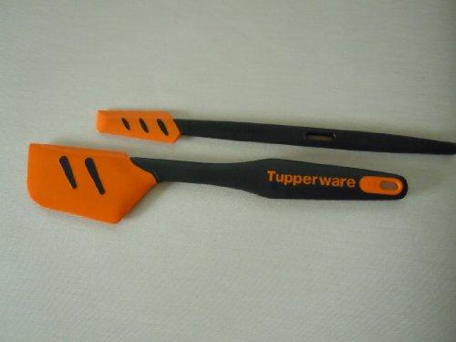 Tupperware© kleiner Top-Schaber 1x und Griffbereit Top-Schaber Orange 1x