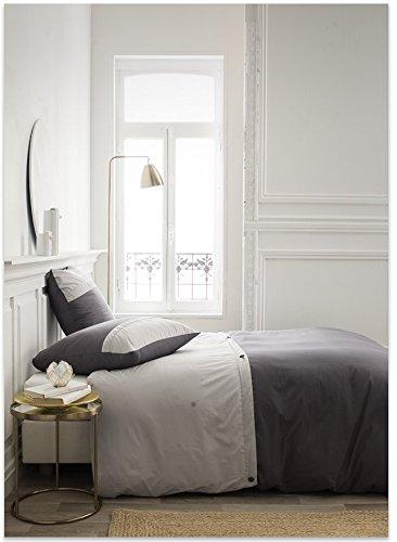 TODAY Housse de Couette et Taies d'oreiller, Gris, 220 x 240 cm