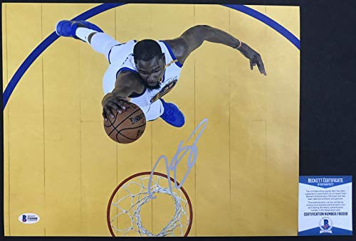 Why Choose FINALS MVP! Kevin Durant Signed GOLDEN STATE WARRIORS 11x14 Photo #2 Beckett BAS