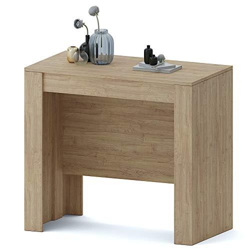 Tavolo Consolle Allungabile Oslo Plus Fino A 3 Metri, Tavolo 14 Posti Salvaspazio Multiposizione, Design Moderno Ed Elegante, Consolle per Casa E Ufficio, 78 x 51 x 90 cm, Colore Rovere