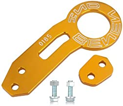 Yunanwa Rear Tow Towing Hook for Universal Car Auto Trailer Ring Aluminum alloy (Gold)