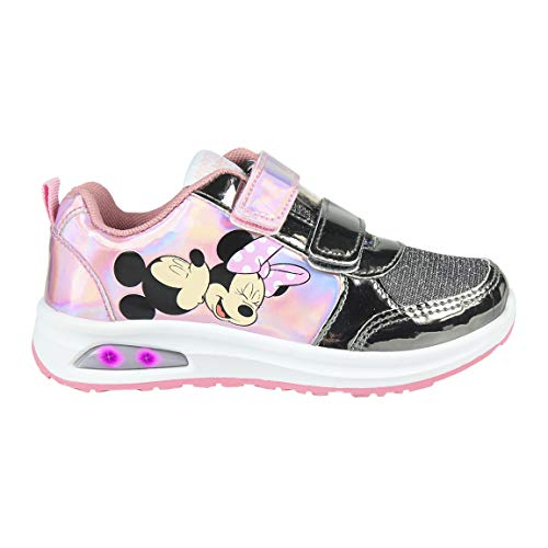 CERDÁ LIFES LITTLE MOMENTS Cerdá-Zapatilla con Luces Minnie Mouse de Color Rosa, Niñas, 27 EU