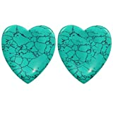 turquoise healing crystal - rockcloud Worry Stone,Thumb Palm Stones for Anxiety, Healing Crystal, Heart Shape, Green Turquoise
