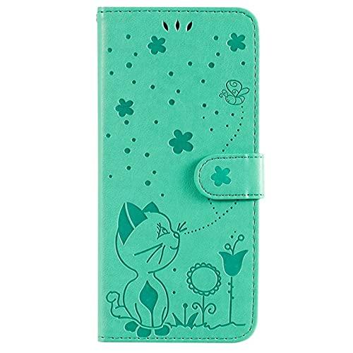 JiuRui-504 kuaijiexiaopu Fundas Caja de Relieve de Lujo en Relieve para Xiaomi Redmi Note 9S Pro MAX, Cubierta de Billetera de Soporte de Cuero para Xiaomi 9T 10 Lite 10x 5g K30 Pro