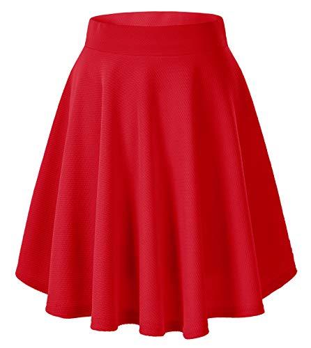 Urban CoCo Women's Basic Versatile Stretchy Flared Casual Mini Skater Skirt...