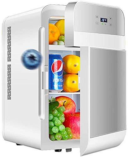 ZLMI Mini Kühlschrank Minibar für Schlafzimmer 22L Mini bar tragbaren klein gefrierschrank mit Kühler und wärmeren leisen Gefrierfach Getränkekühlschrank (AC/DC-Netzkabel) für Autos,Häuser,Büros