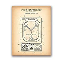Flux Capacitor Patent Vintage Posters and Prints Wall Pictures Back to the Future Blueprint Movie Artwork Art Canvas Painting 51x71cm Unframed
