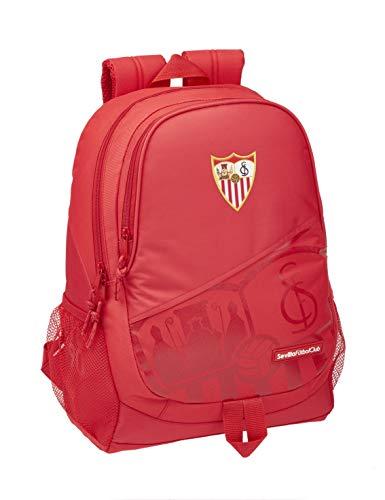 safta Sevilla FC Offizieller Schulrucksack, Rot, 320 x 160 x 440 mm, für Kinder, Unisex, Einheitsgröße