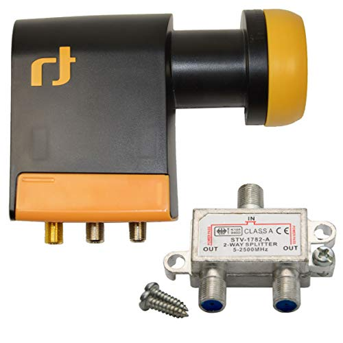 LNB Quad 0,2 dB Inverto Black Pro Unicable IDLB-QUDL41-UNI2L-1PP + 1 Splitter