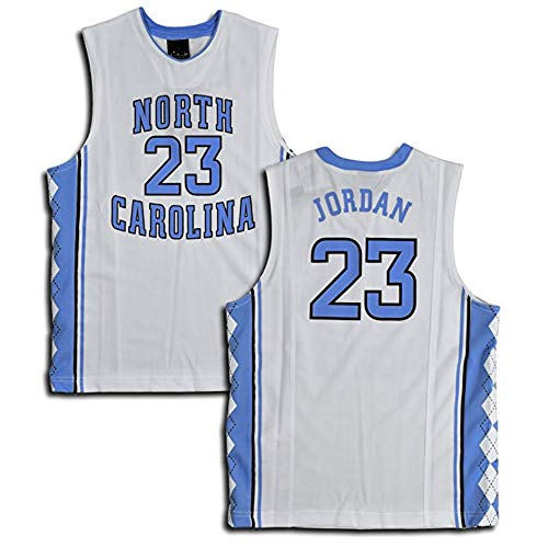BenZent New North Carolina 23# White Men's Jersey (L)