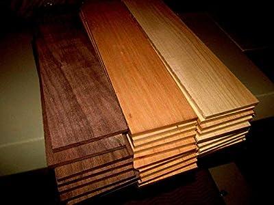 "(Woodworking Lumber) MULTIPAK (18) KILN Dried Sanded Thin Walnut, Cherry, Maple 12"" X 3"" X 1/2"""