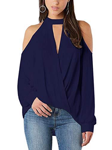 YOINS Bluzka damska, elegancka bluzka bez rękawów, szyfonowa bluzka Crop Tops dla kobiet na lato