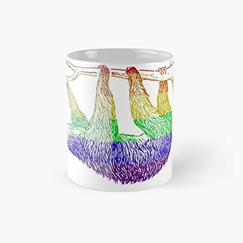 Love U Tees Grappige Regenboog Dieren Luiaard LGBT Pride Week Swag Unieke Geschenken Klassieke Mok | Beste Gift Koffie Mokken 11 oz