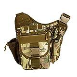 ANYM® Tactical Camera Messenger Bag Military Camouflage Shoulder Molle Backpack Sling Pack