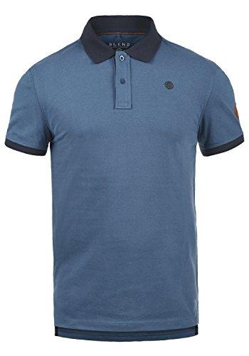 Blend Ralf Herren Poloshirt Polohemd T-Shirt Shirt Mit Polokragen Aus 100% Baumwolle, Größe:L, Farbe:Ensign Blue (70260)