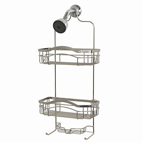 ZPC Zenith Products Corporation E7523STBB Over-The-Showerhead Caddy, Silver