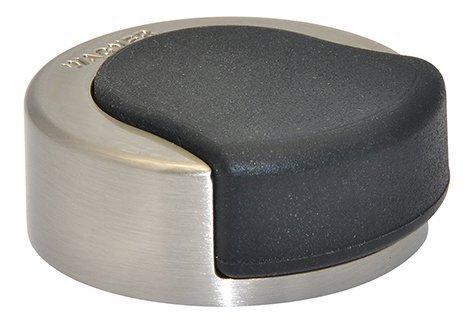 WAGNER Design-Türstopper - Screw - Metall gebürstet, thermoplastischer Kautschuk, Durchmesser Ø 33 x 17 mm - 15514811