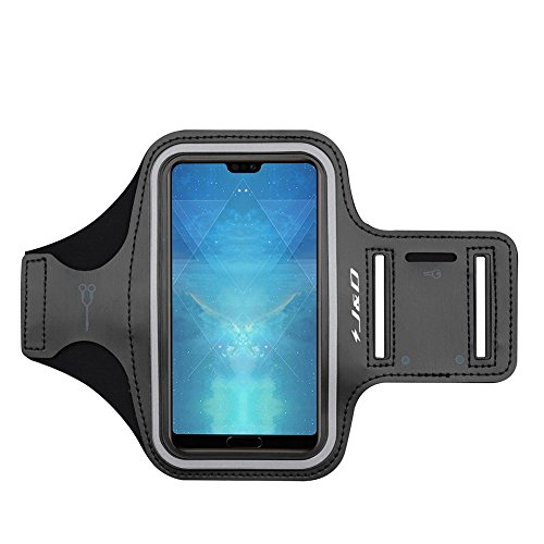 J&D Kompatibel für Huawei P40 Pro +/P40 Pro Plus/P40 Lite/P40 Pro/P30 Pro/P20 Pro/P10 Plus/iPhone 8 Plus/7 Plus/6S Plus/6 Plus/XS Max Armband Sportarmband mit Schlüsselschlitz, Kopfhörer Verbindung