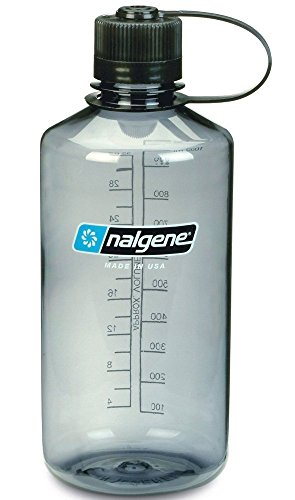 NALGENE Tritan 1-Quart Narrow Mouth BPA-Free Water Bottle (Grey, 2 Count)