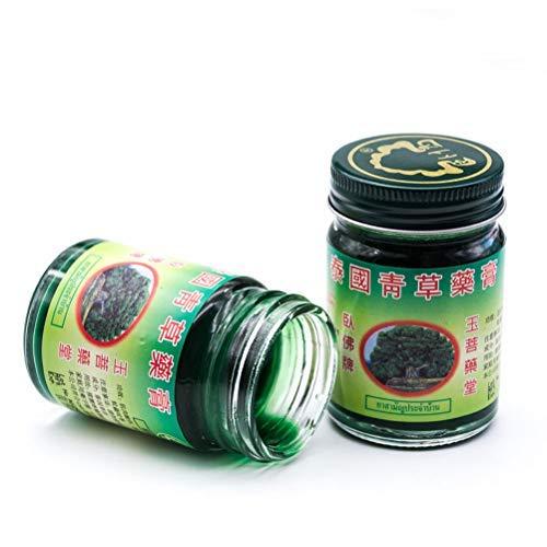 3 Stück 50g Thai Balm Green Kräutersalbe Massage Muskelgelenke Verstauchungsschmerzen Balsam Antipruritische Anti-Moskito-Creme