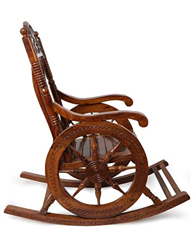 Urban Art Store Wooden Rolling UAS-Rocking Chair (Brown)