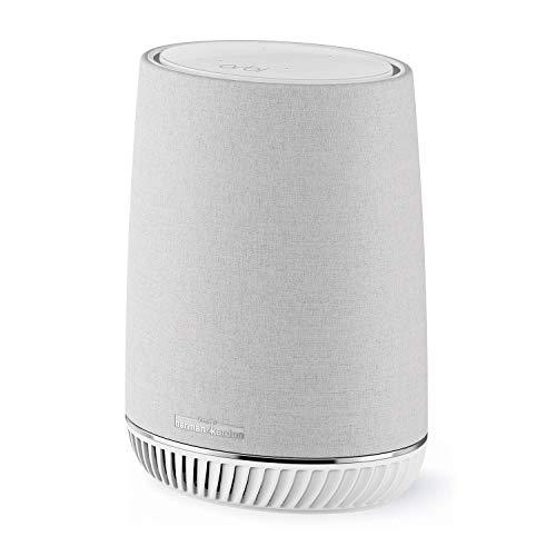 Netgear Orbi Wifi Mesh AC3000 RBS40V, repetidor WiFi adicional con altavoz Alexa integrado, cobertura tribanda de hasta 125 mq, compatible con todos los sistemas Orbi