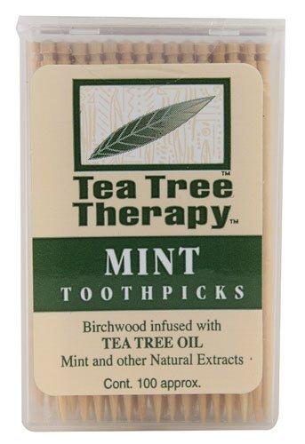 Tea Tree Therapy, Toothpicks Mint Tea Tree, 100 Count