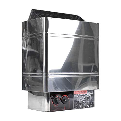SurmountWay - Calentador de sauna de 9 kW para baño o sauna de vapor seco de 220 V-240 V con controlador interno, estufa eléctrica de sauna para un máximo de 459 pies cúbicos (9 kW)
