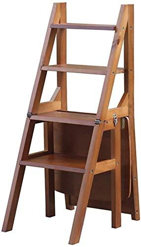 N/Z Inicio Equipo Taburetes con peldaños Taburete de Escalera Plegable para el hogar Escalera de Cuatro escalones Silla Zapatero Estante de Flores Banco de Taburete de Cocina Banco (Color: H1)